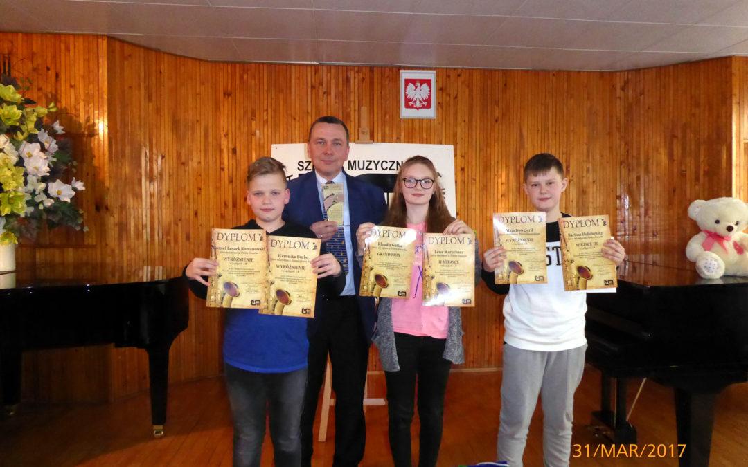 Sukcesy Naszych Uczniów na  XVI Makroregionalnych Przesłuchaniach Instrumentów Dętych w Olecku 30-31.03.2017